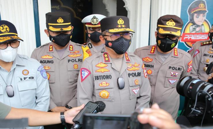 Mudik di Tiadakan, Korlantas Polri Chek Kesiapan Chek Point Pengamanan Penyekatan di Jombang