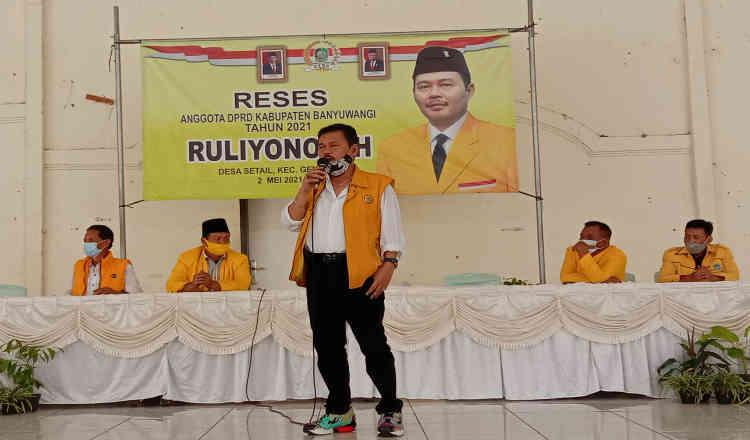 Reses Wakil Ketua DPRD Banyuwangi, Ruliyono Siap Perjuangkan Aspirasi Warga