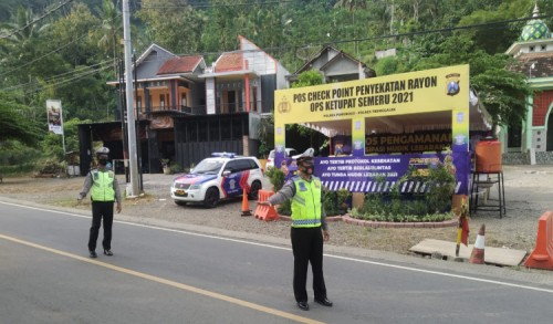 Antisipasi Pemudik di Ponorogo, Polisi Lakukan Penyekatan Perbatasan Lebih Awal