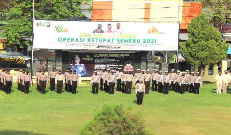 Polres Bondowoso Terjunkan Ratusan Personel Pelaksanaan Operasi Ketupat Semeru 2021