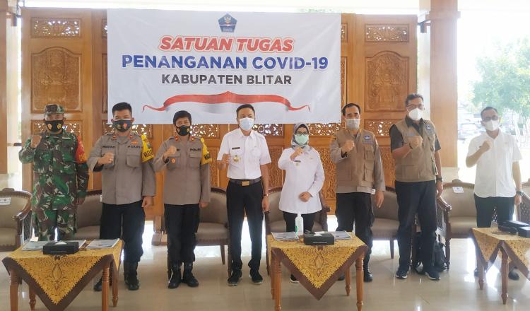Terima Kunjungan Kerja, Bupati Blitar Rini Dapat Pujian dari BNPB Pusat Terkait Pendirian Tim Satgas di Semua Sektor