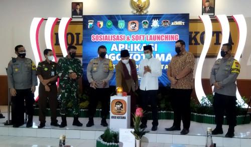 Kapolres Madiun Kota Launching Aplikasi Jogo Kotama