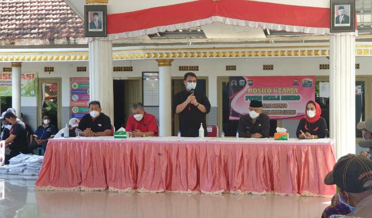 Wakil Ketua MPR RI Ahmad Basarah Berikan Bantuan kepada Korban Gempa Malang