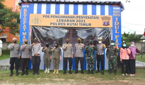 Tim Was Ops Polda Kaltim Kunjungi Polres Kutim, Cek Pos Pemantauan dan Penyekatan