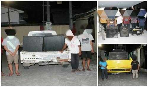Bikin Resah Warga Blitar, Polisi Sita Kendaraan dan Amankan Sound System