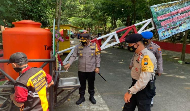 Antisipasi Lonjakan Pengunjung, Kapolres Blitar Kota Pantau Prokes di Objek Wisata