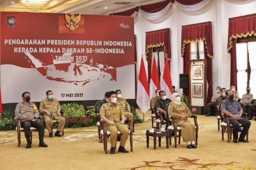 Presiden Jokowi Minta Kepala Daerah Tetap Hati-hati dan Waspada Covid