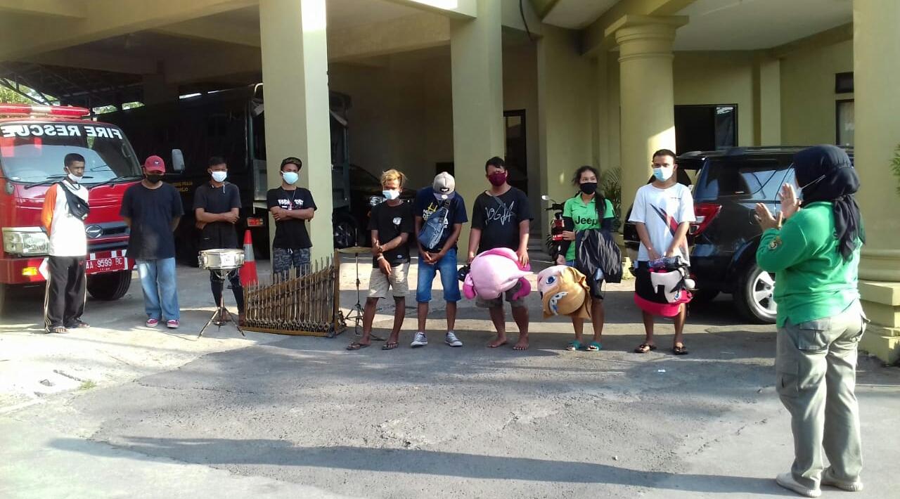 Belasan Pengamen di Purworejo Diamankan Satpol PP