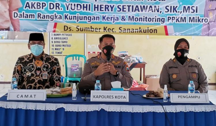 Asistensi ke Sanankulon, Kapolres Blitar Kota Minta Penerapan PPKM Mikro Dijalankan Maksimal