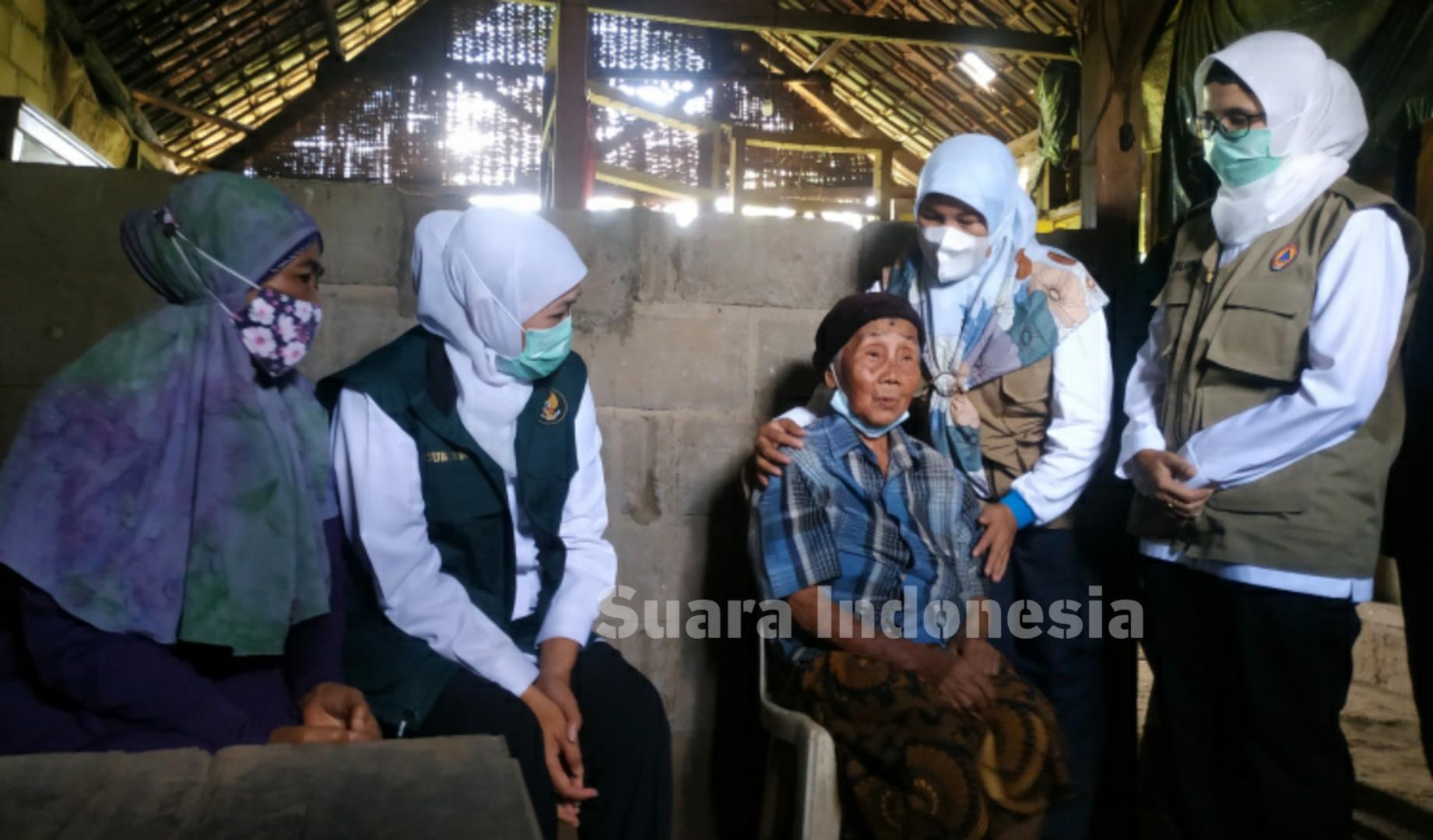 Bupati Blitar Dampingi Gubernur Jatim, Tinjau Korban Gempa Bumi di Selorejo