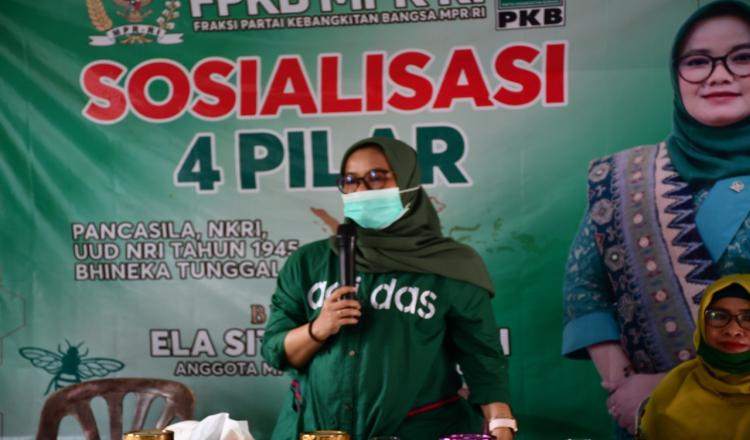 Gelar Sosialisasi 4 Pilar Kebangsaan, Ela Siti Nuryamah Tekankan Ini