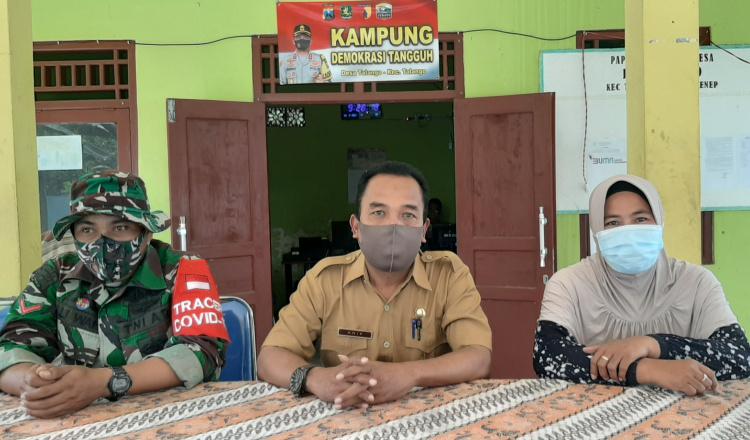 Masuk Zona Hijau, Perangkat Desa Talango Sumenep Minta Masyarakat Tetap Patuh Prokes