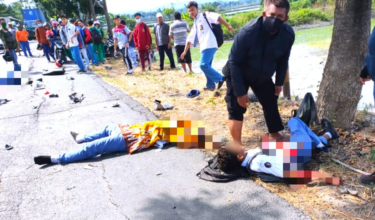 Dihantam L300, Dua dari Tiga Pelajar SMK di Widang Tewas di Jalur Pantura Tuban