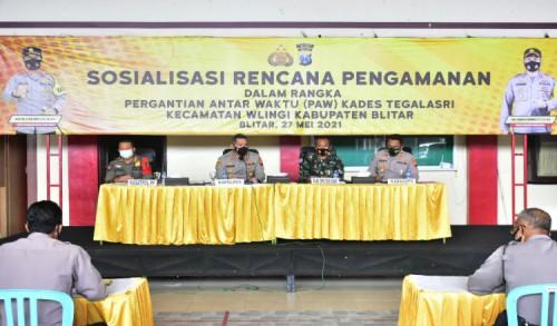 Rawan Gesekan, Polisi Siapkan Skenario Pengamanan PAW Kades Tegalsari Blitar