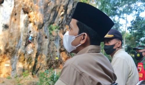 Panjat Tebing di Trenggalek Masuk Program Unggulan 100 Desa Wisata