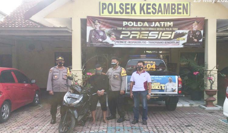 Curi Motor di Blitar, Warga Bogor Ditangkap Polisi Karena Tidak Bisa Nyalakan Motor