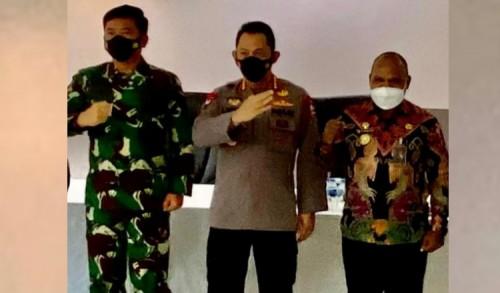 Kapolri dan Panglima TNI Apresiasi Puncak Jaya Dalam Penanganan KKB
