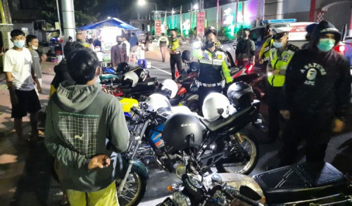 Belum Kapok, Puluhan Joki Balap Liar di Blitar Ditangkap Polisi