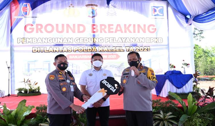 Wujudkan Polri Presisi, Polda Kalsel Bangun Gedung Pelayanan BPKB