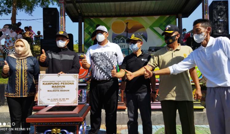 Resmikan Kampung Pesona, Wali Kota Madiun Targetkan Penghargaan Nirwasita Tantra Jelang HUT ke 103