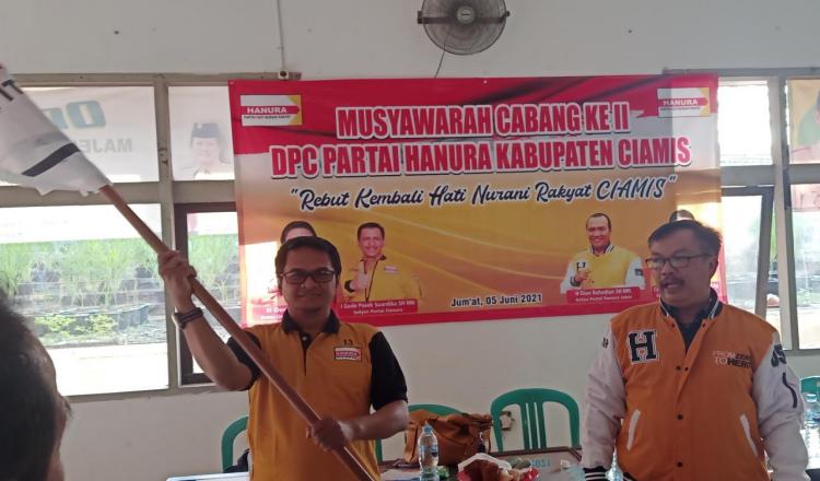 Ivan Rifai Terpilih Jadi Ketua DPC Partai Hanura Kabupaten Ciamis