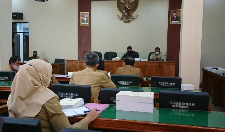 Bapemperda Panggil OPD, Sinkronisasi Draf Untuk Rekomendasi Ketua DPRD Trenggalek