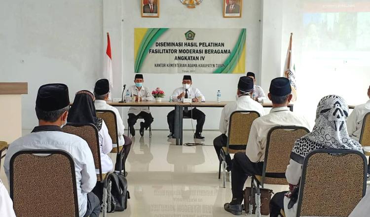 Kemenag Tuban Gelar Kelompok Kerja Madrasah dan Jelaskan Moderasi Beragama