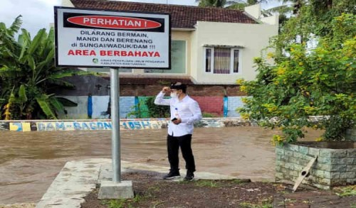 Dinas Pengairan Banyuwangi Upayakan Normalisasi Sungai Bagong