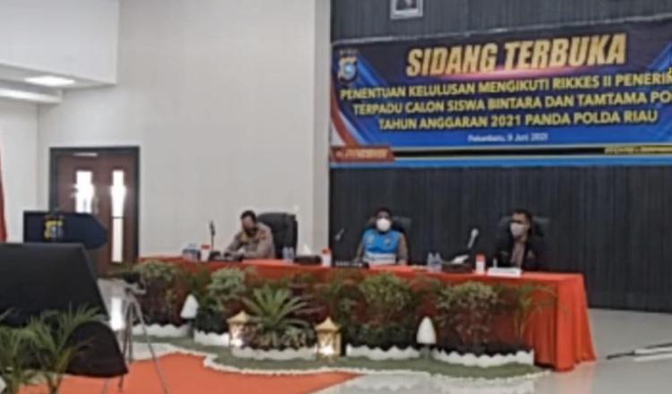 Polda Riau Gelar Sidang Terbuka Rikkes Tahap II, Calon Siswa Bintara dan Tamtama