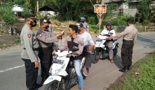 Patroli Tertib Masker di Trenggalek Sasar Pelanggaran dan Kerumunan
