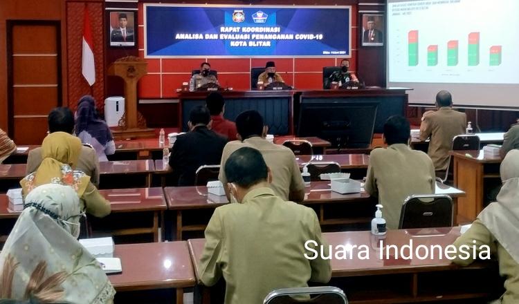 Optimalkan Penanganan Covid-19, Wali Kota Blitar Santoso Pimpin Rapat Koordinasi dengan OPD