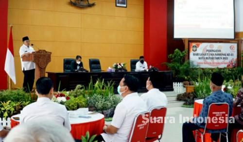 Hari Lanjut Usia, Wali Kota Blitar Santoso Berharap Para Orang Tua Tetap Berkarya di Tengah Pendemi