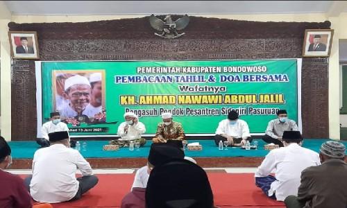Kiai Nawawi Sidogiri Wafat, Pemkab Bondowoso Gelar Tahlil dan Doa Bersama