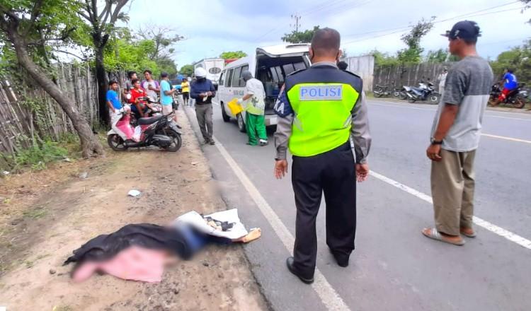 Hendak Putar Balik, Gadis Asal Lamongan Tewas Diseruduk Pickup di Jalur Pantura Tuban