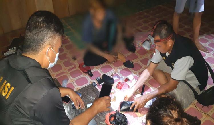 Paket Komplit, Polsek Kaliorang Kutim Bekuk Pengedar dan Bandar Sabu