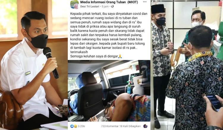 Ditolak RS Karena Kamar Penuh, Pasien ini Curhat di Medsos, Tanggapan Bupati Tuban Bikin Haru