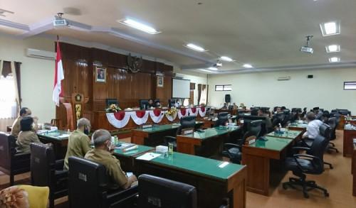 Banggar dan TAPD Gelar Rapat Terakhir Bahas LPJ Bupati Trengggalek TA 2020