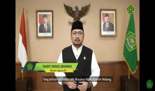 Jadi Pembicaraan Kuliah Tamu UIN Malang, Menteri Agama: Halal Bihalal Tradisi Indonesia