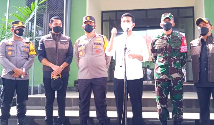 Hari Pertama Sosialisasi PPKM Darurat, Wagub Jatim Minta Masyarakat Tuban Disiplin