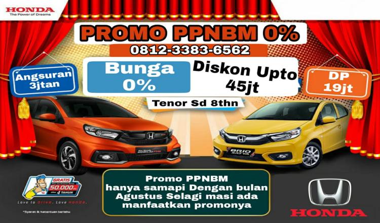 Promo PPnBM, Beli Mobil Honda Dp 0%