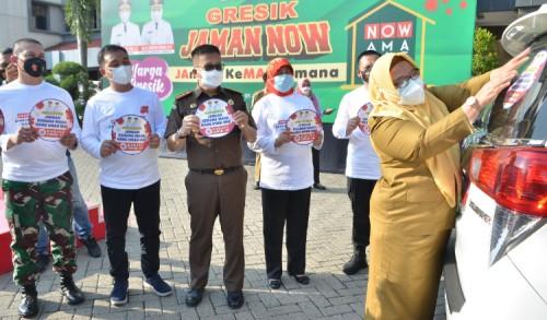 Optimalkan PPKM Darurat, Wabup Launching Gresik Jaman Now