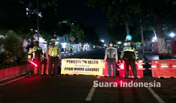 PPKM Darurat, Sejumlah Ruas Jalan di Kota Blitar Ditutup
