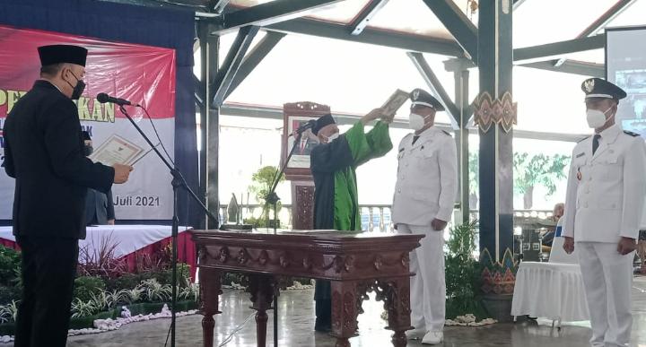 43 Kepala Desa Terpilih di Kabupaten Purworejo, Dilantik Secara Virtual