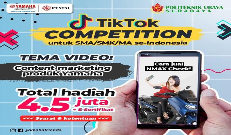 Asah Kreativitas, Yamaha Jatim dan Politeknik Ubaya Gelar Tiktok Competition