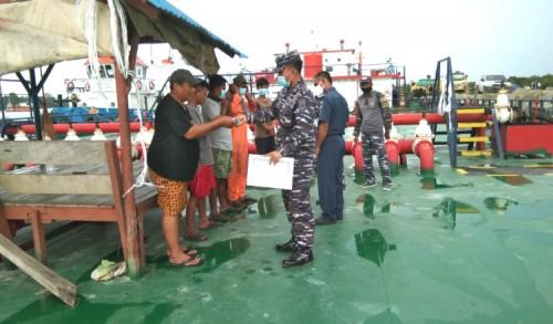 Laksanakan Instruksi Danlanal Sangatta, Danposal Sangkulirang Lakukan Ini di Pelabuhan Maloy
