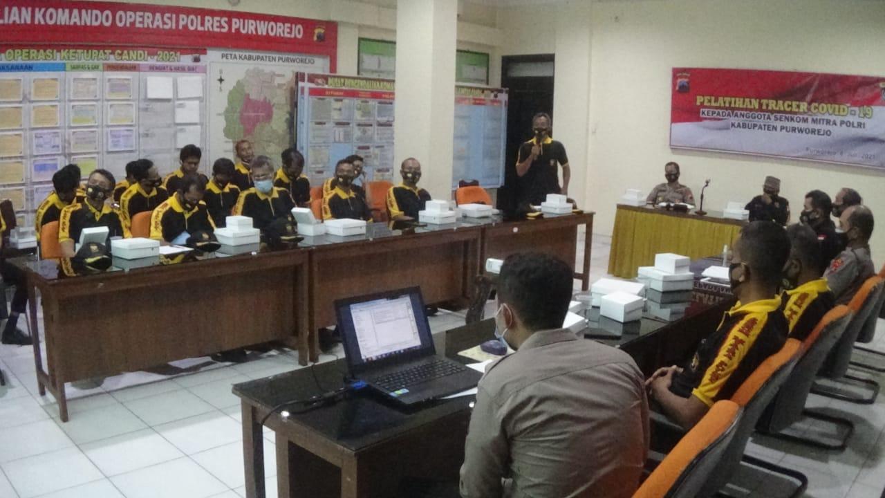 Bantu Pemerintah Akhiri Pandemi, Senkom Mitra Polri Kabupaten Purworejo Dilatih Tracher Covid-19