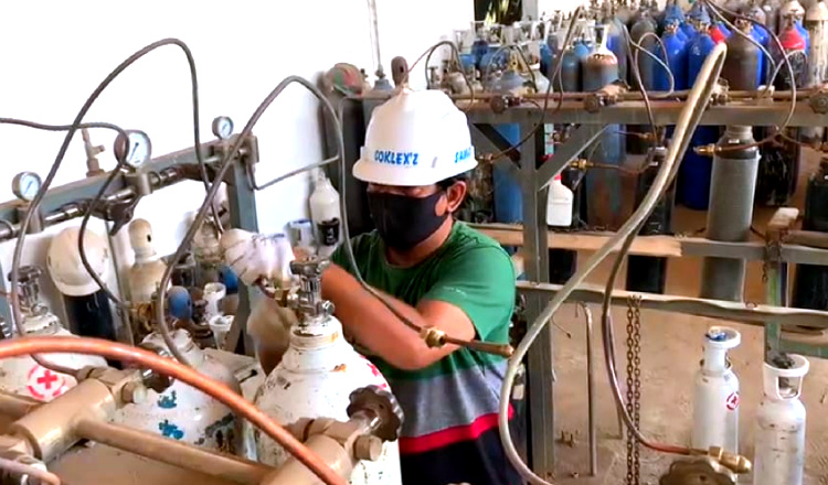 Hindari Penimbunan Tabung Oksigen Dimasa Covid-19, Polres Tuban Lakukan Pengecekan
