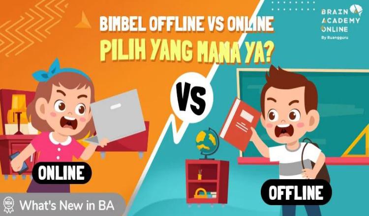 Ini Perbandingan Bimbel Offline vs Online, Kamu Pilih Mana?