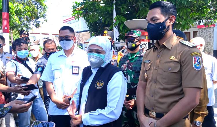 Gubernur Jatim Ingatkan Masyarakat Tuban untuk Tidak Menimbun Obat dan Oksigen