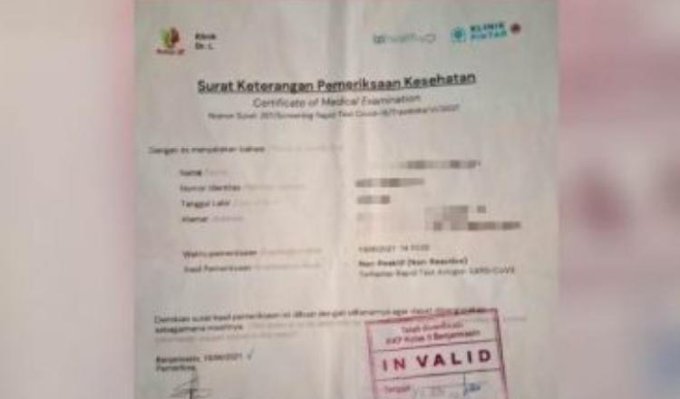 Jual Surat Hasil Antigen Palsu di Medsos, 2 Bekas Karyawan Percetakan Diringkus